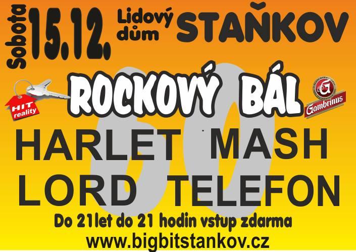 Legendární Rockový bál oslaví 60. ročník v LD Staňkov! Gratulanty budou skupiny Harlet, Lord, Mash a Telefon
