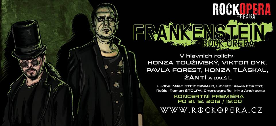 Frankenstein udeří v RockOpeře Praha aneb silvestrovská koncertní premiéra se blíží