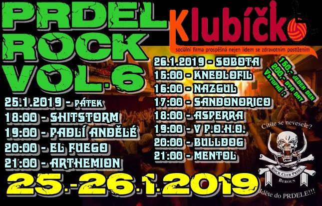 Dvoudenní festival Prdel rock pro Klubíčko Vol. 6