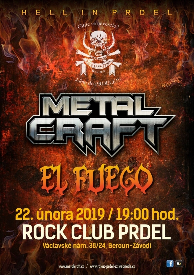 Metalový večer Hell in Prdel v kultovním berounském klubu