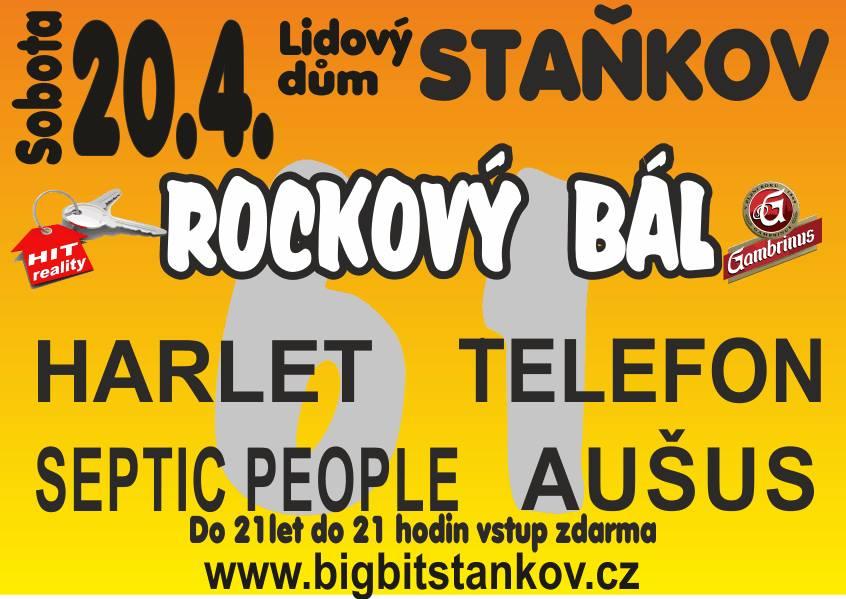 LD Staňkov ožije Velikonočním Rockovým bálem se skupinami Aušus, Telefon, Harlet a Septic People