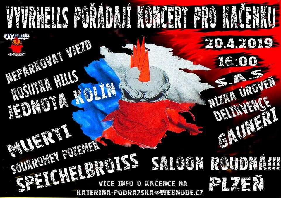 Punkový festival Vyvrhells pro Kačenku je přesunutý do Saloonu Roudná