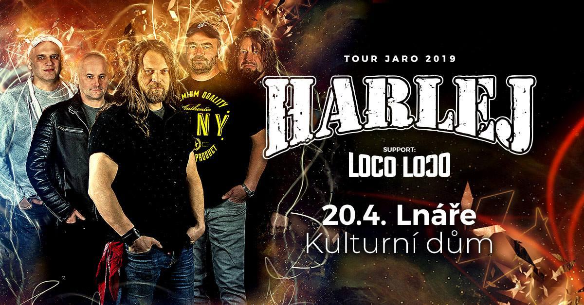 Ve lnářském KD zahraje na Jarní Tour 2019 Harlej a Loco Loco