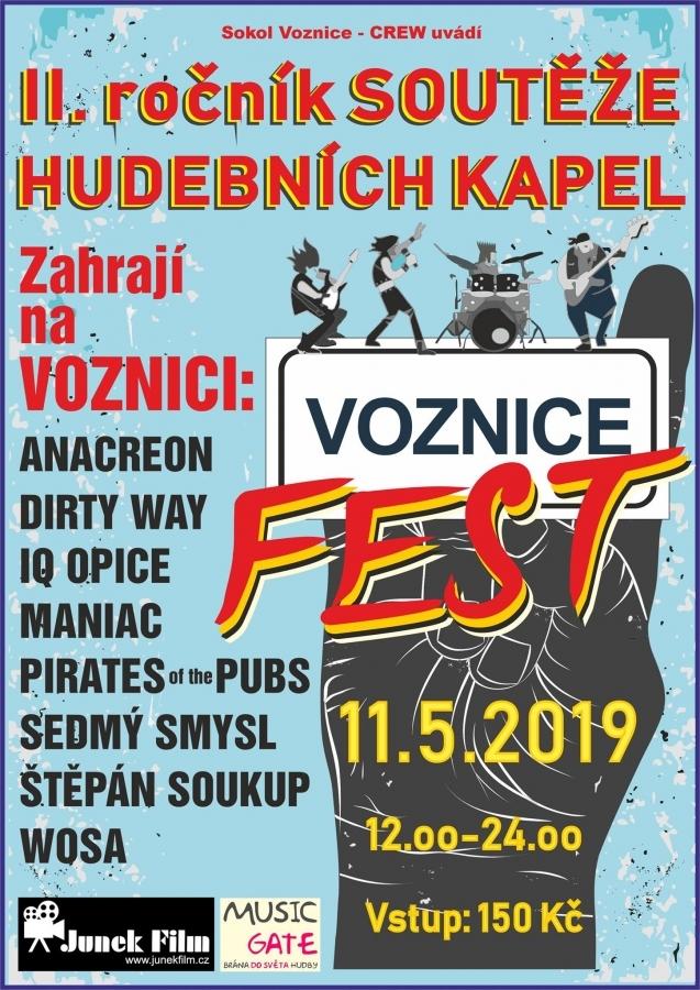 Soutěžní festival Voznice Fest 2019 dává o sobě vědět II. ročníkem