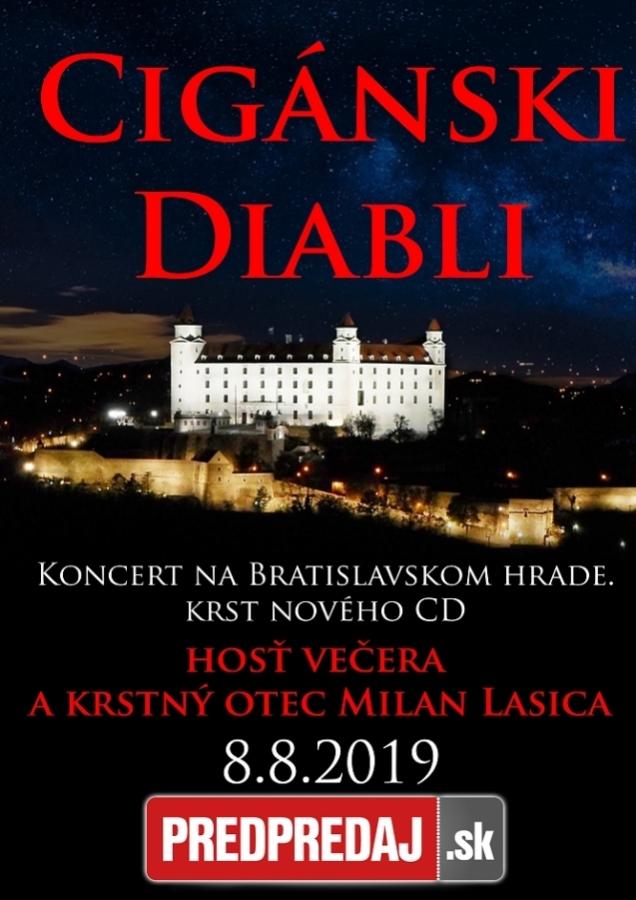 Cigánski Diabli zahrají na Bratislavském hradě, nové CD jim pokřtí Milan Lasica