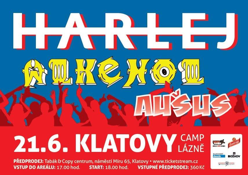Harlej, Alkehol a Aušus rozpoutají rockovou vichřici v Camp Lázních v Klatovech