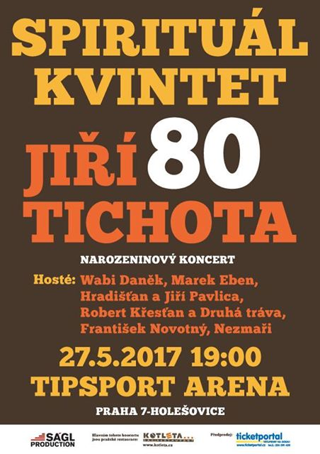 Jiří Tichota z hudební skupiny Spirtuál Kvintet slaví své 80. narozeniny