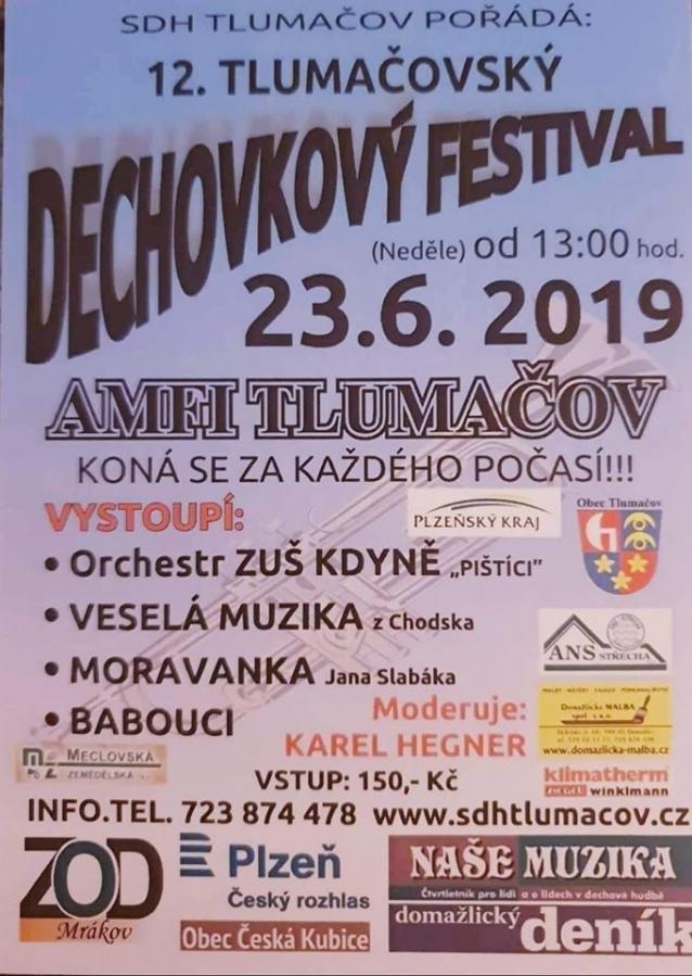 Oblíbený Dechovkový festival na AMFI Tlumačov již po dvanácté potěší publikum!