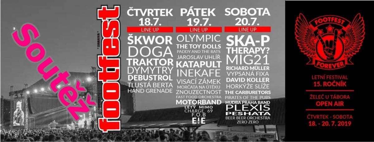 Soutěž o vstupenku na jeden z dnů festivalu Footfest