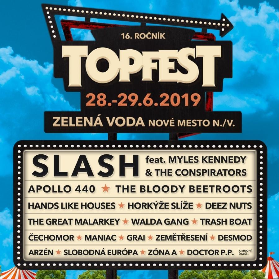 V pátek startuje v areálu Zelená voda festival TOPFEST!