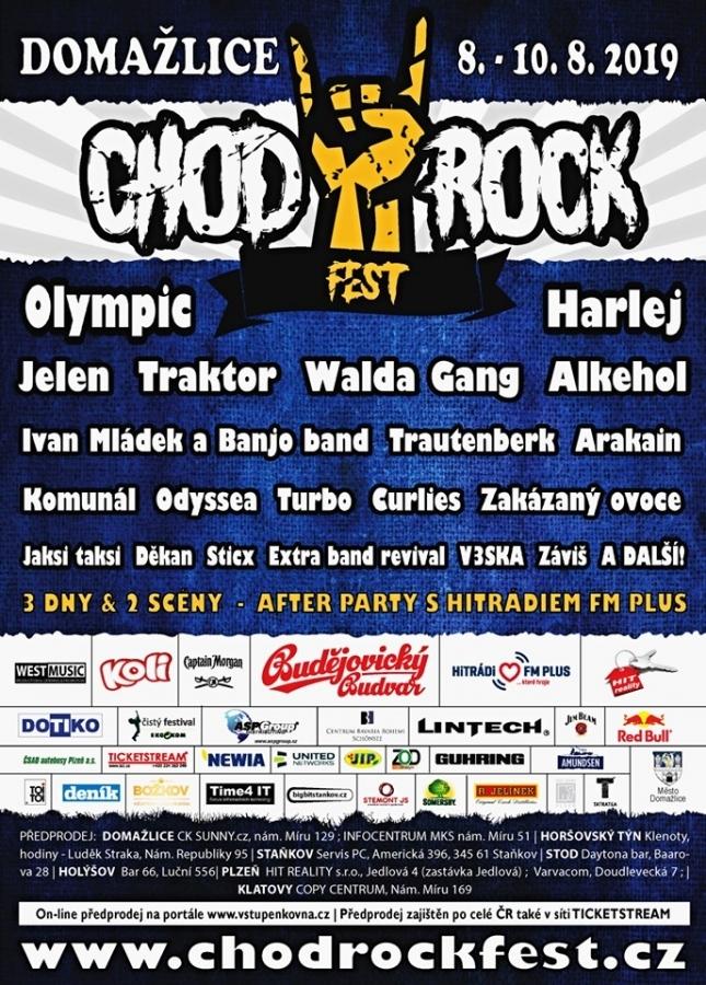 Chodrockfest 2019 aneb tornádo skvělé muziky rozvíří Domažlice!