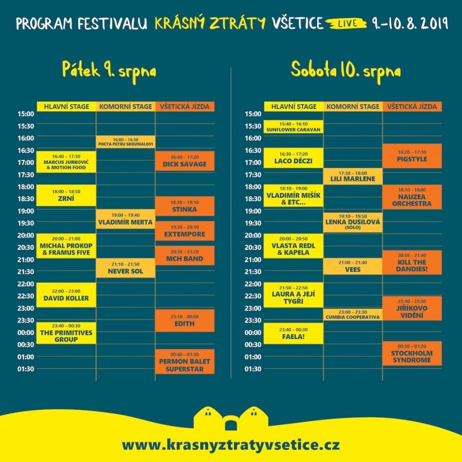 Krásný ztráty live budou festivalem setkávání Odhalujeme, s kým si hostitel Michal Prokop zazpívá