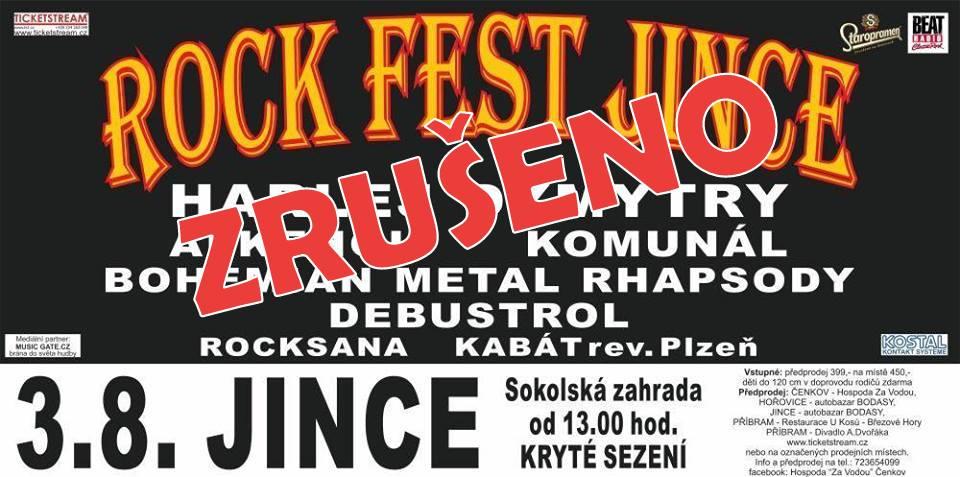 Rock Fest Jince 2019 JE ZRUŠEN!
