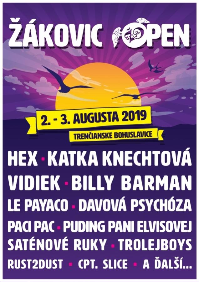 V Trenčianských Bohuslavicích startuje v pátek festival Žákovic Open, brány se otevírají v 15:00!