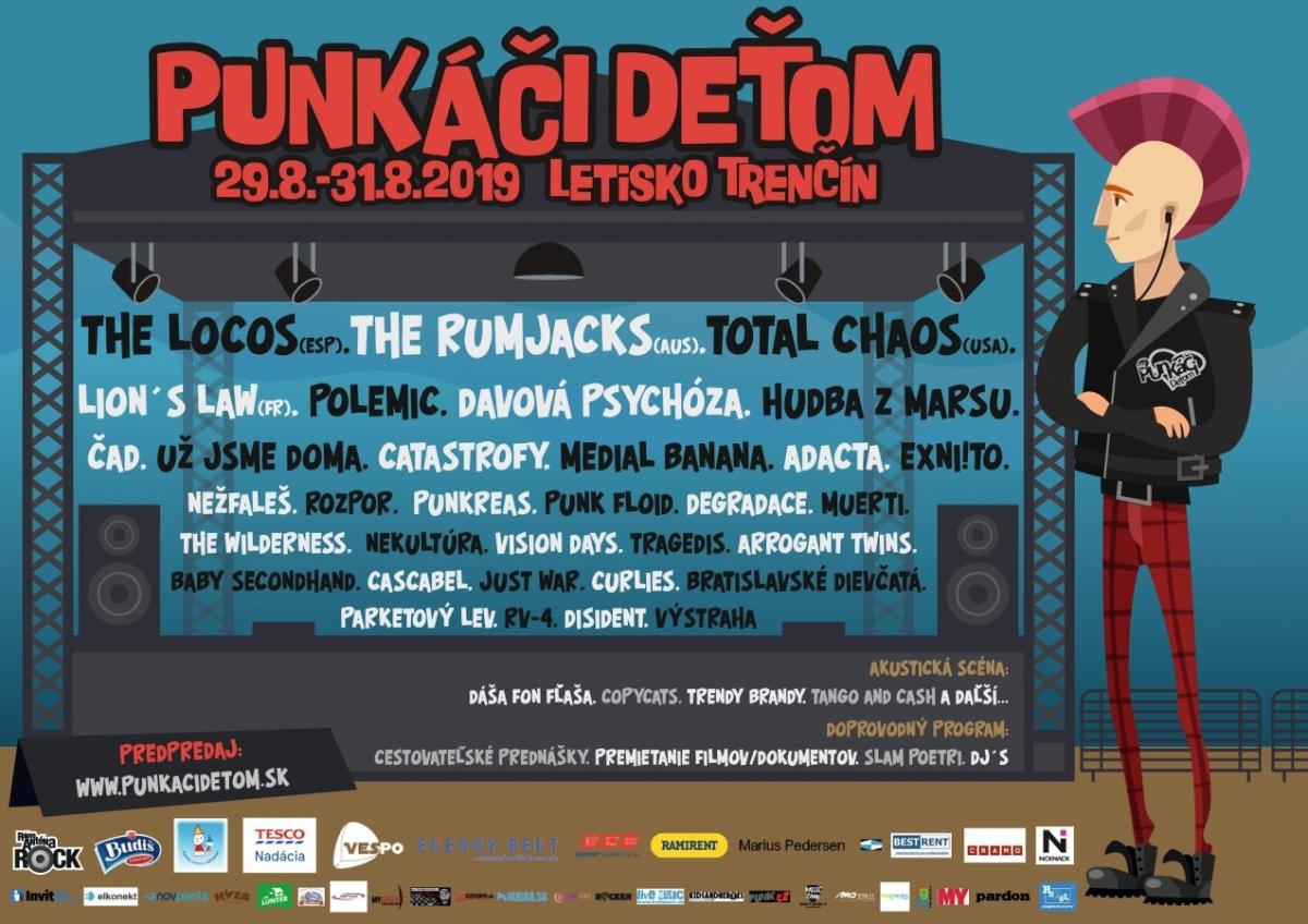 Festival PUNKÁČI DEŤOM rozšiřuje program o doprovodné akce a zajímavé organizační novinky