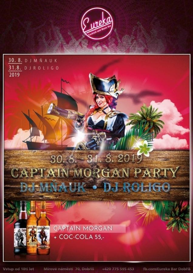 Eureka Bar Dobříš - Captain Morgan Party (30.-31.8.2019)