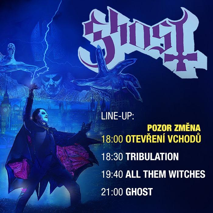 Chrám Ghost se rozestoupí nad Prahou