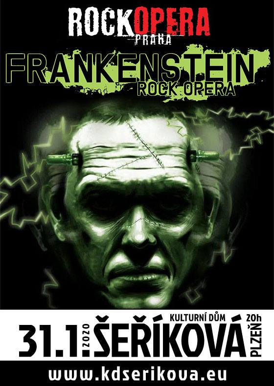 Frankenstein udeří v Plzni aneb RockOpera Praha po roce opět na prknech KD Šeříkové! Hostem večera bude symphony metalový Interitus