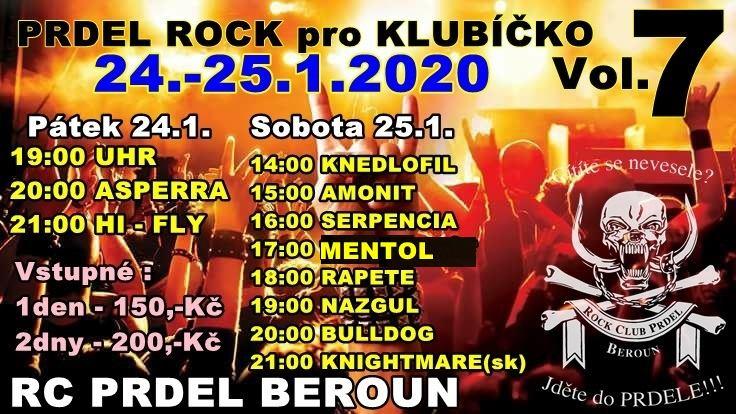 Prdel rock pro Klubíčko pomůže již po 7. na správném místě