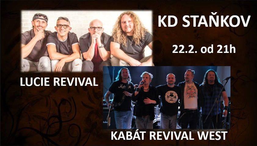 Společný koncert kapel Lucie revival a Kabát revival West ve Staňkově – KD 22.2.2020
