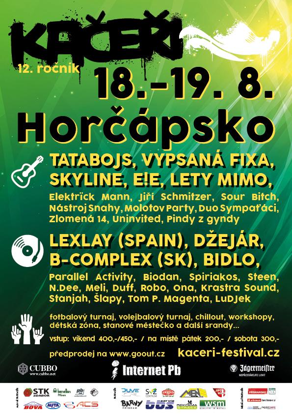 Festival Kačeři ovládnou v srpnu hudební hvězdy