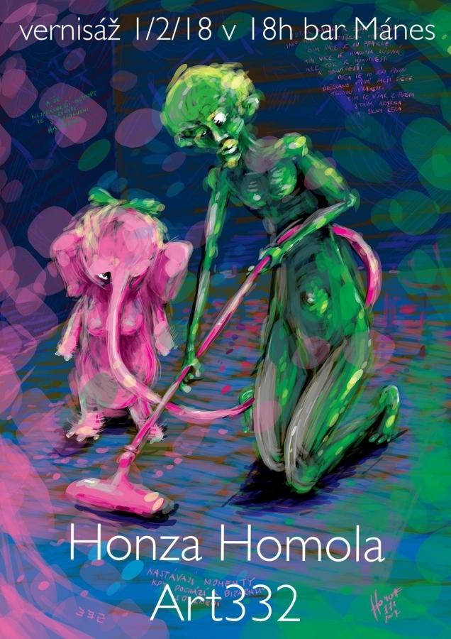 Autor Honza Homola představuje ve svých dílech …