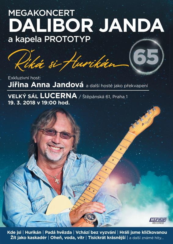 Dalibor Janda Oslavi 65 Narozeniny V Lucerne Na Musicgate Cz Projdete Branou Do Sveta Hudby