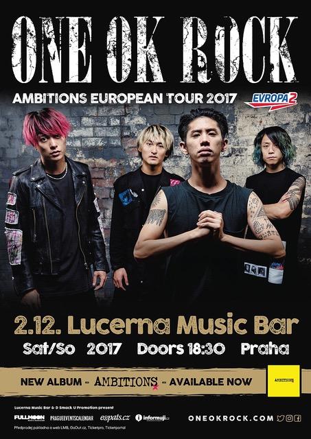 Japonská rocková kapela One OK Rock vprosinci zamíří do Lucerna Music Baru!
