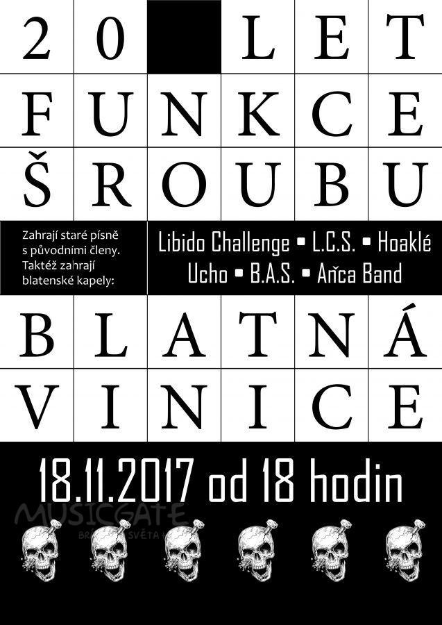 Jihočeská hc punková kapela FUNKCE ŠROUBU letos oslaví 20 let své existence