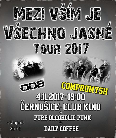 Soutěž o vstupenky na koncert 008 + Compromysh v Černošicích