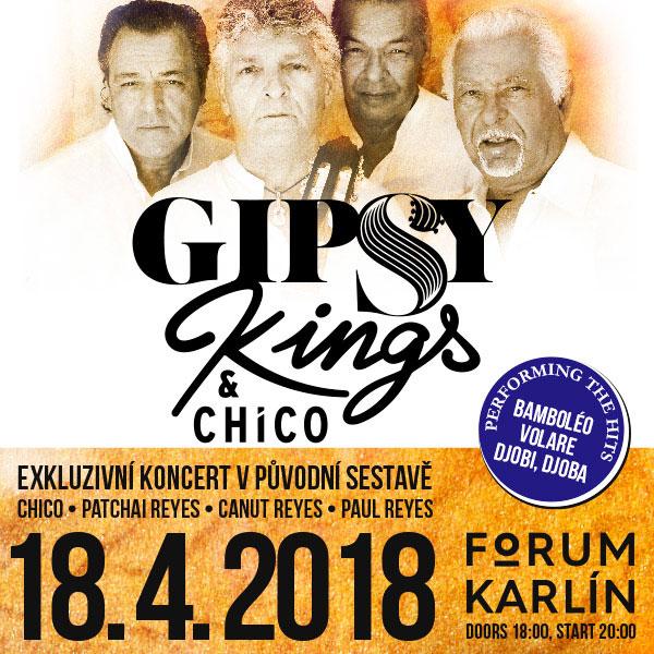 Gipsy Kings a Chico zahrají ve Foru Karlín