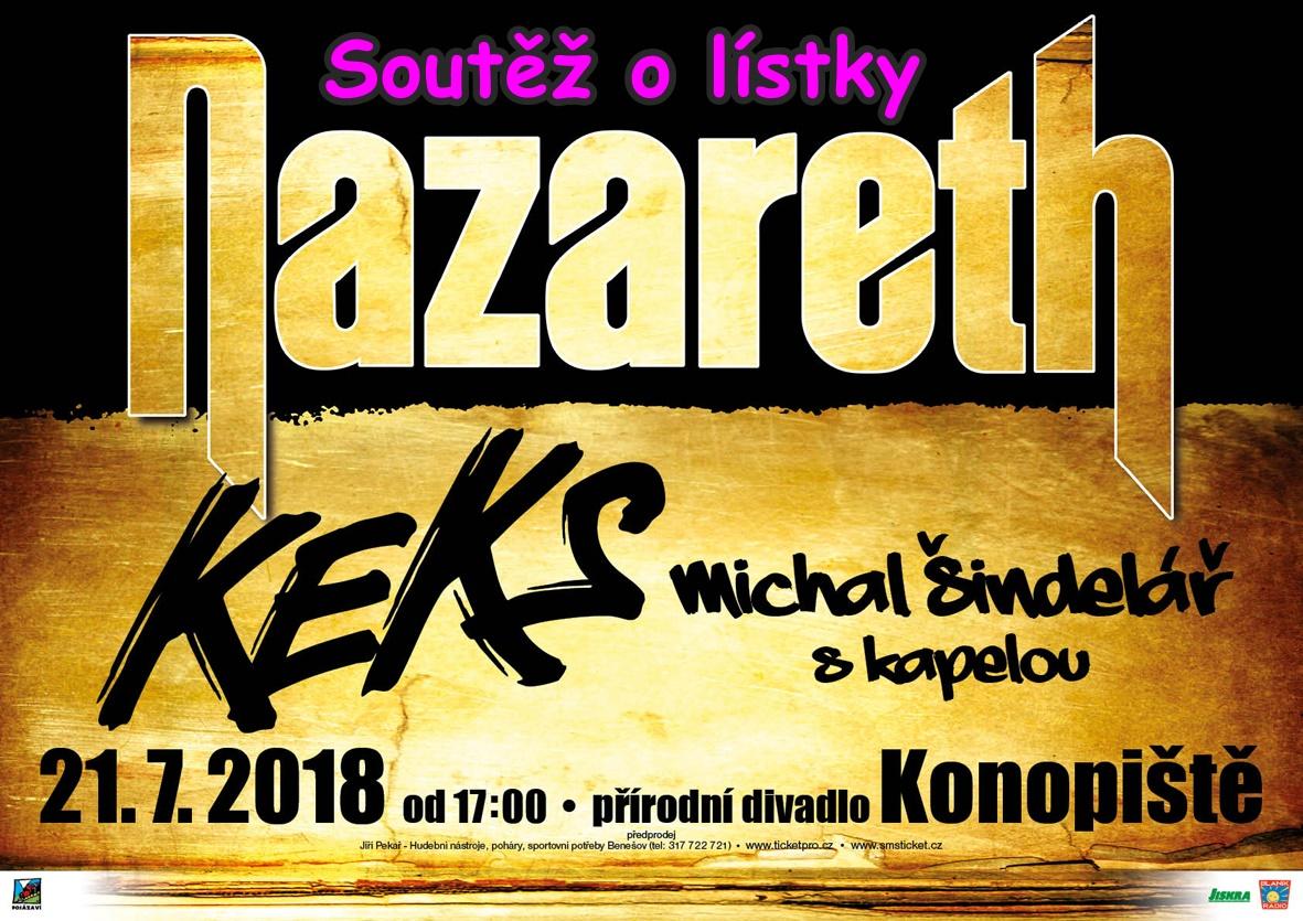 Soutěž o lístky na Nazareth na Konopišti