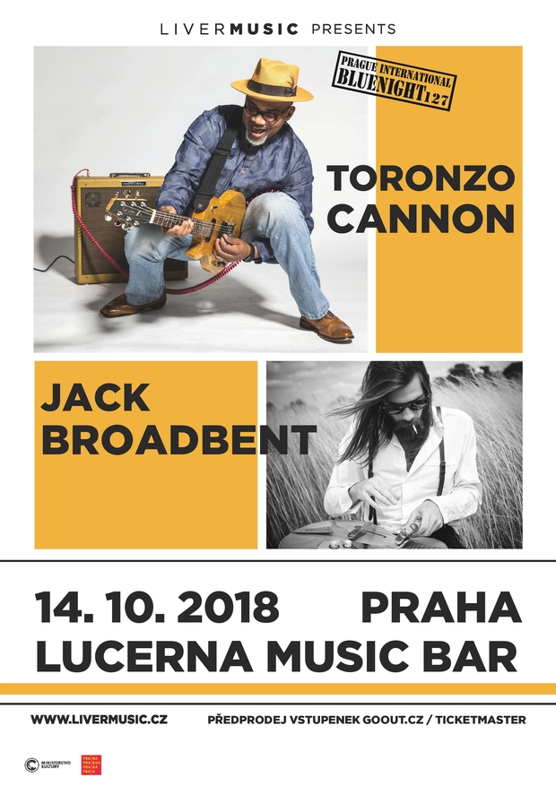 Prague International Bluenight no.:127 Jack Broadbent /UK/, ToronzoCannon /USA/ - 14.10. 2018 Lucerna Music Bar, Praha