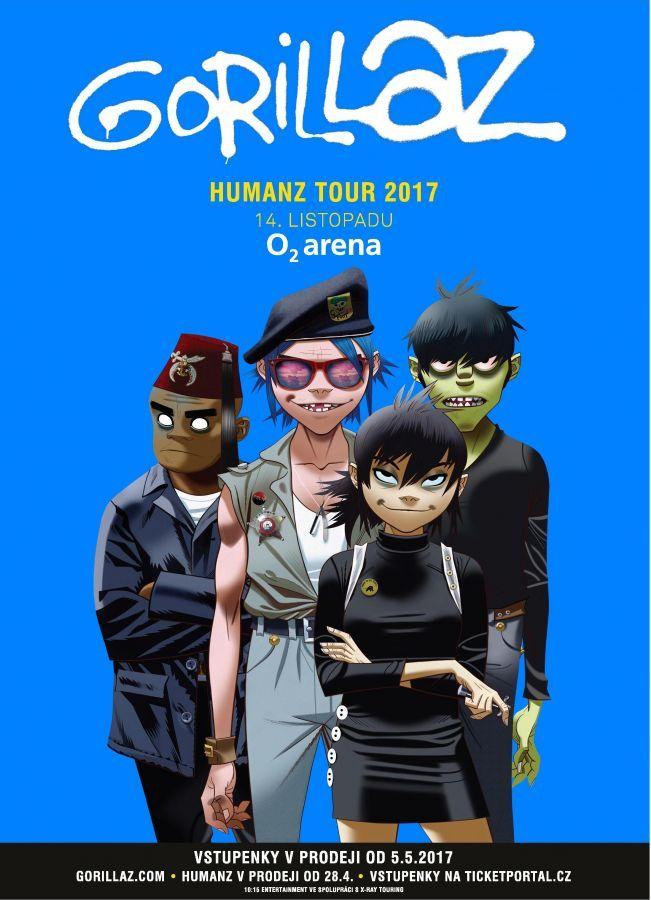 GORILLAZ pojedou HUMANZ TOUR a míří i k nám!