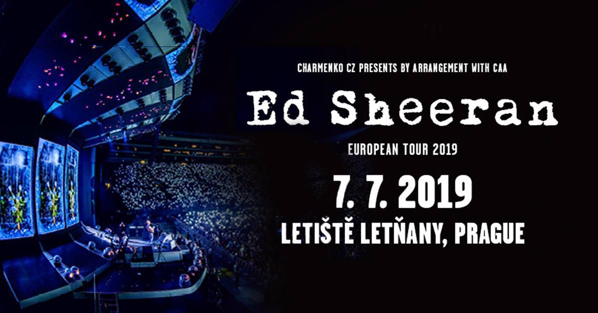 Světová megastar Ed Sheeran se vrací do Prahy. Na jeho koncert se chystají desítky tisíc fanoušků.