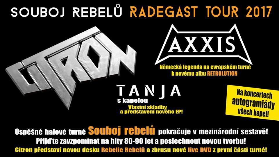 Soutěž o vstupenky na Souboj Rebelů Radegast Tour 2017 do Strakonic