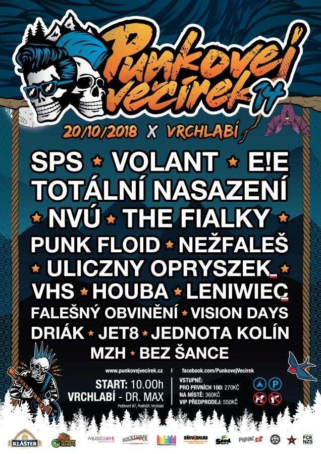Punkovej večírek 14 přináší do Podkrkonoší nejlepší tuzemské punkové kapely.