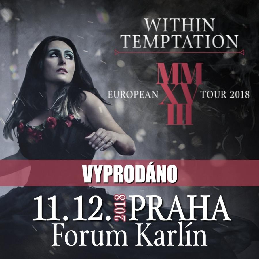 WITHIN TEMPTATION VYSTOUPÍ V RÁMCI EVROPSKÉ TOUR K NOVÉMU ALBU V JEDINÉ EXKLUZIVNÍ SHOW PRO ČR!