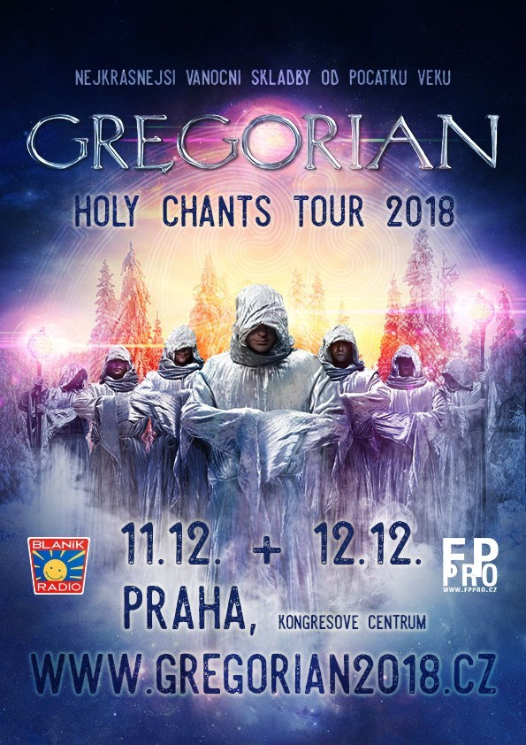 Soutěž o lístky na koncert Gregorián na 12. 12. 2018 do Kongresového centra v Praze