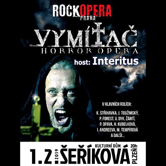 RockOpera Praha odstartuje své putovní turné Vymítač Tour v KD Šeříková v Plzni! Hostem večera bude symphony metalový Interitus!
