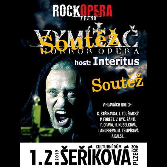 Soutěž o volňásky na RockOperu Praha a Interitus v rámci Vymítač tour do KD Šeříková Plzeň!