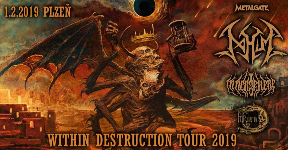 Plzeňská zastávka Within Destruction tour 2019 v Divadle Pod lampou