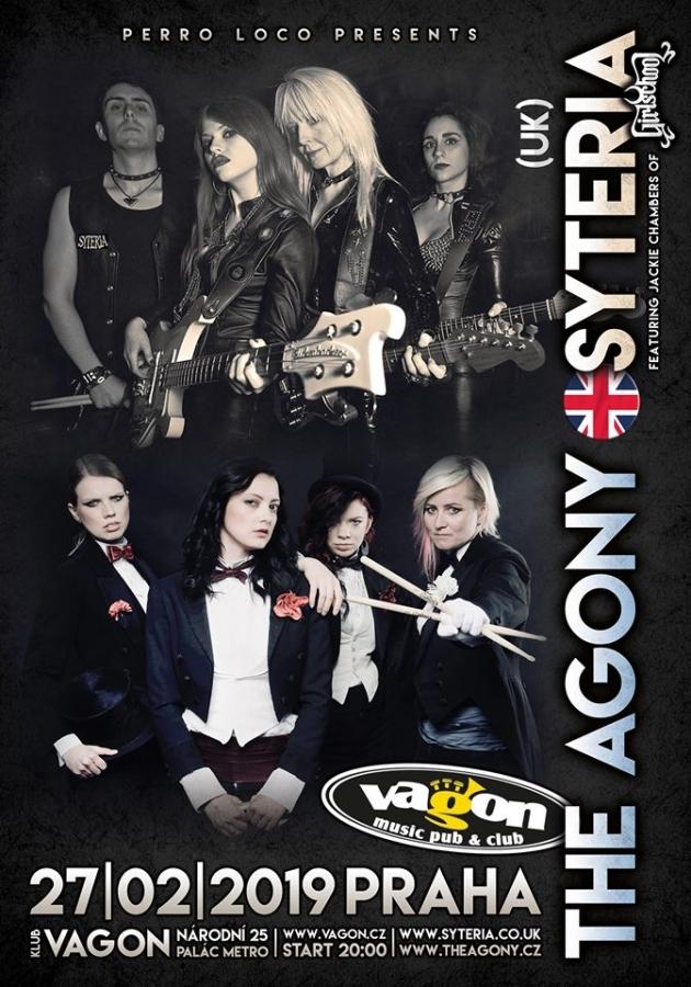 Koncert The Agony (CZ) a Syteria (UK), klub Vagón, 27. února 2019 ------------------ The Agony (CZ) with special guest Syteria (UK), music club Vagon, 27 FEB 2019