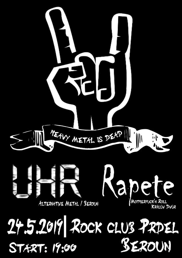 Berounské kapely Rapete a UHR na koncertě v RC Prdel