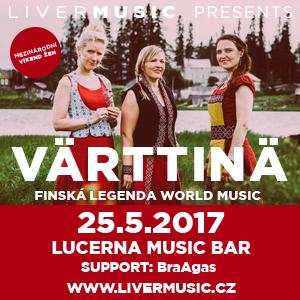 Värttinä a BraAgas již příští týden 25. 5. v Lucerna Music Baru
