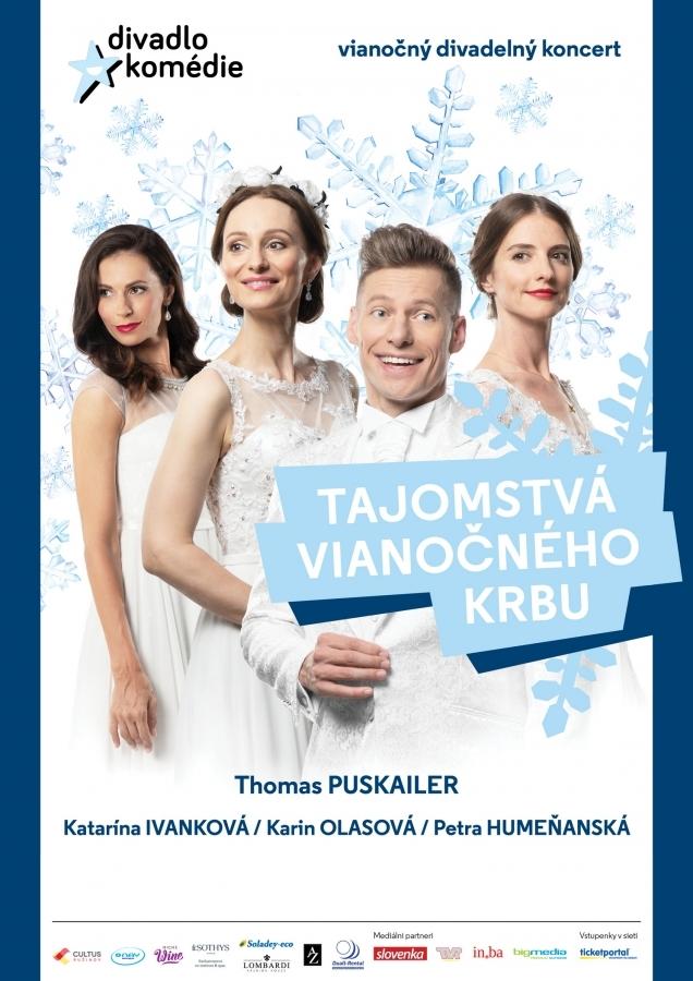 Thomas Puskailer zve na Tajomstvá vianočného krbu, zazpívají si s ním Karin Olasová, Petra Humeňanská a Katarína Ivanková