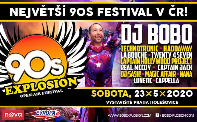 Největší devadesátkové hity naživo tj. 90´s Explosion open air festival 2020 v Praze.
