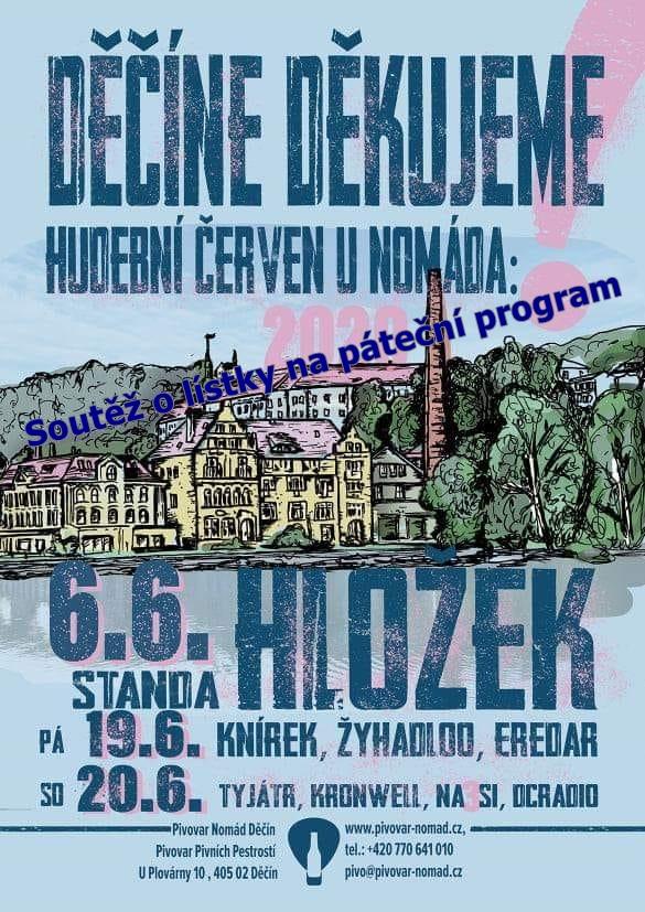 Soutěž o lístky na páteční program ,, Děkujeme Děčíne,, 19. 6. 2020