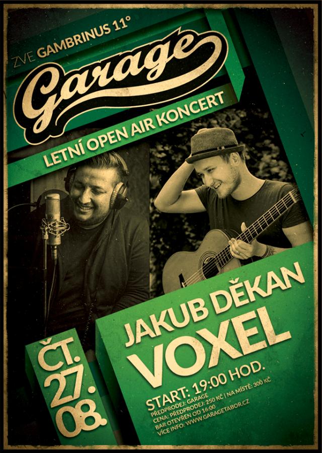 Soutěž o lístky Jakub Děkan a Voxel do Garáge Tabor