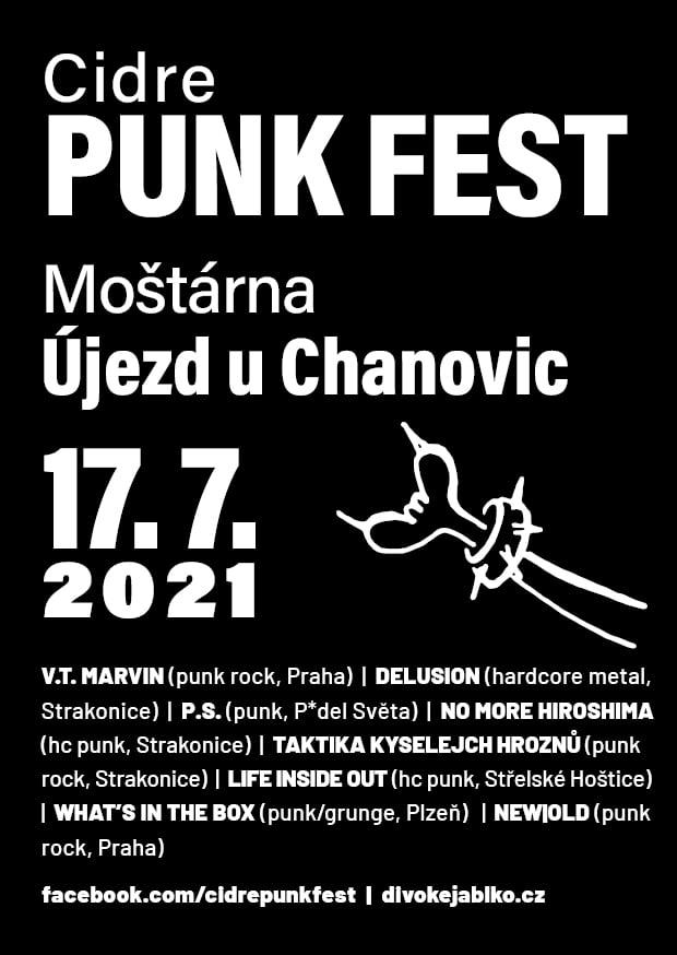 Cidre Punk Fest 2021 klepe na dveře a s ním i řada vystupujících kapel